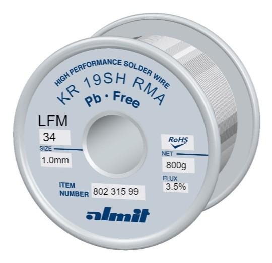 KR19SH RMA LFM34 P3, 3,5%, 1,0mm, 0,8kg Spule