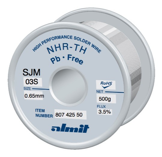 NHR-TH SJM-03-S 3,5%, 0.65mm 0.5kg Spule