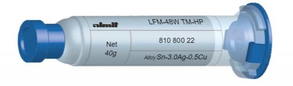 LFM-48W TM-HP; Flux 14%; (20-38µ); 10cc. 40g Kartusche mit Leichtlaufstopfen