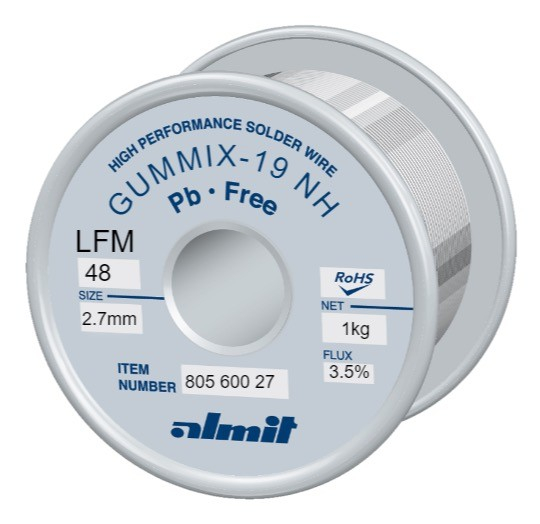 GUMMIX-19 NH LFM-48 Flux 3,5%, 2.7mm 1.0Kg Spule