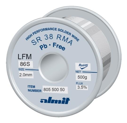 SR38 LFM86-S P3, 3,5%, 2,0mm, 0,5kg Spule