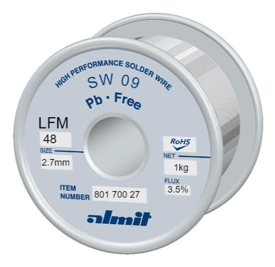 SW09 LFM48 3.5%, 2,7mm, 1,0kg Spule