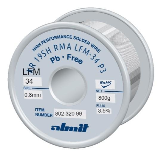 KR19SH RMA LFM34 P3, 3,5%, 0,8mm, 0,8kg Spule