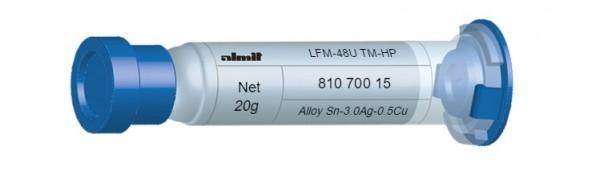 LFM-48U TM-HP; Flux 14%; (10-28µ); 5cc. 20g Kartusche mit Leichtlaufstopfen