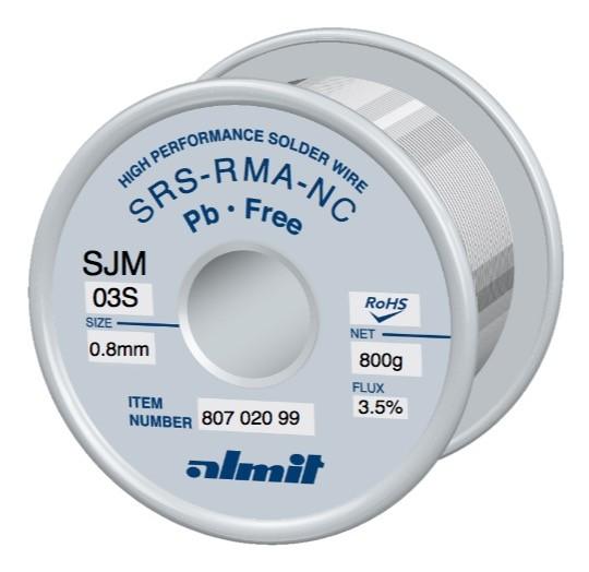 Almit Lötdraht SRS-RMA-NC SJM-03-S bleifrei 0.8mm 800 g