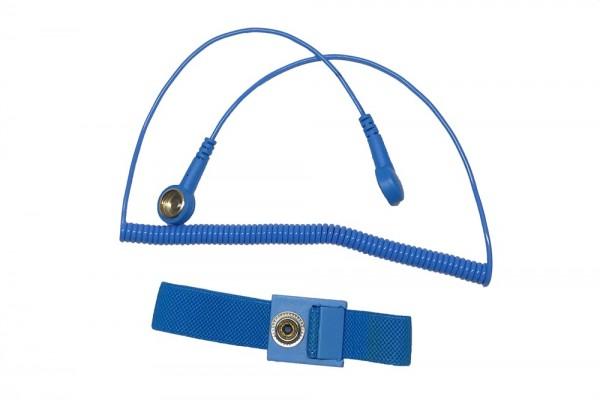 ESD Armband-Set anti-allergisch Druckknopf 10mm / 10mm hellblau
